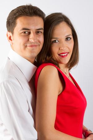 Photo pour Beautiful couple in classical outfits. - image libre de droit