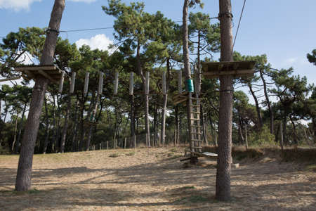 Very beautiful adventure park without someone