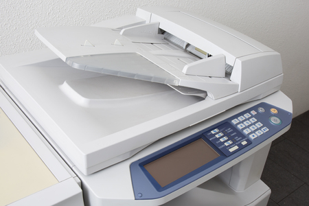 Office multifunction printer or copy machine isolated on white background