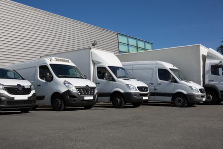 Photo for van transportation truck park - Royalty Free Image