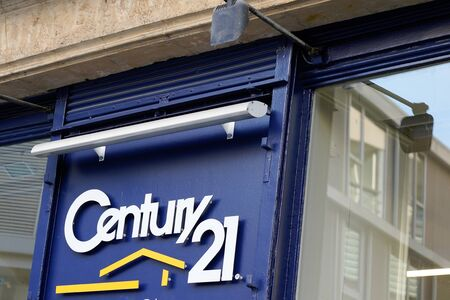 Bordeaux , Aquitaine / France - 02 02 2020 : Century 21 us sign logo brand real estate store broker office company shop in france