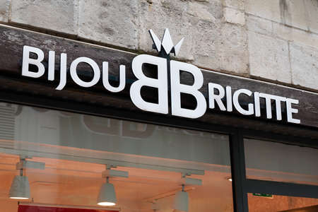Bordeaux, Aquitaine / France - 07 28 2020: Bijou Brigitte store logo sign and text of company sell fashion jewelery and women accessories