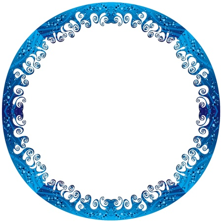 Round frame made of sea waves