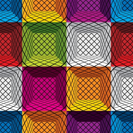 3d boxes seamless pattern,  background