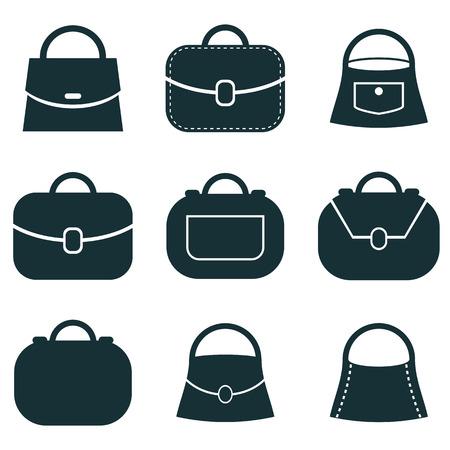 Bag vector icons set, symbols collection.