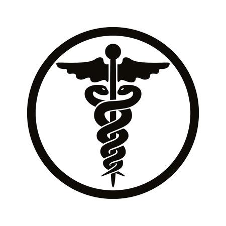 Illustration pour Caduceus medical symbol. - image libre de droit