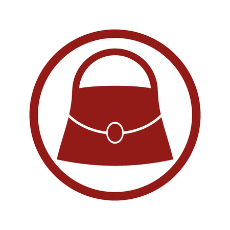 Woman bag vector icon.