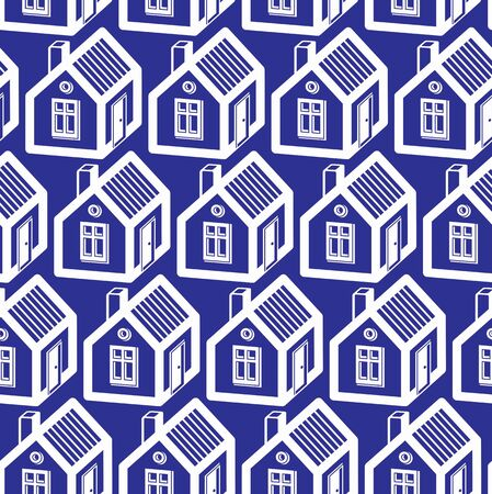 Simple houses continuous vector background. Property developer conceptual elements, real estate theme.  Building modeling and engineering projects idea seamless pattern.