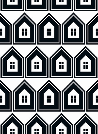 Simple houses vector continuous background. Property developer conceptual elements, real estate theme.  Building modeling and engineering projects idea seamless pattern.
