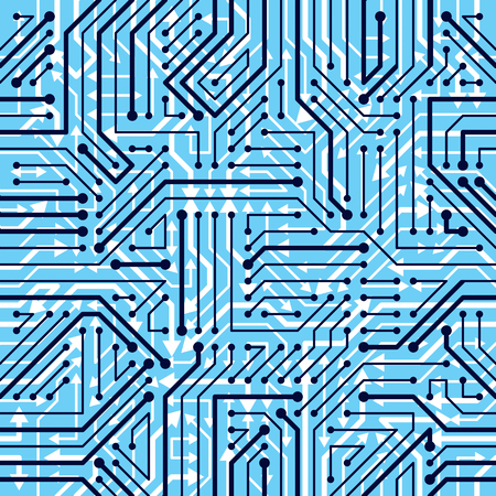 Motherboard Board Seamless Pattern Vector Background