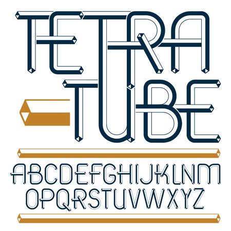 Set of trendy fun vector capital English alphabet letters