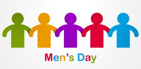 Illustration pour Man day international holiday, gentleman club, male solidarity concept vector illustration icon or greeting card. - image libre de droit