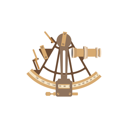 Old ship illustration in a flat style.