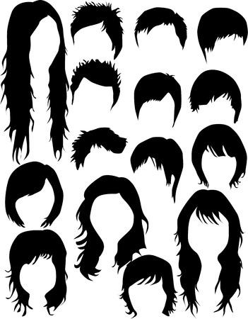 Hair - dress  (women and men), Vector work