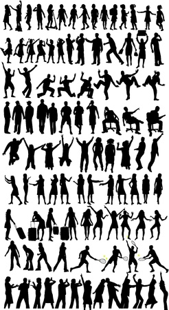 Collection of silhouettes,