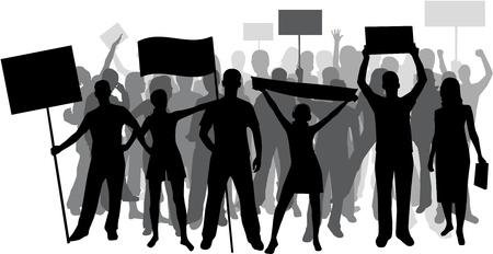 Demonstration People - black silhouette