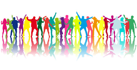 Foto für Dancing people silhouettes - Lizenzfreies Bild