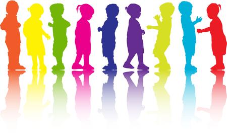 Illustration pour Children silhouette. - image libre de droit
