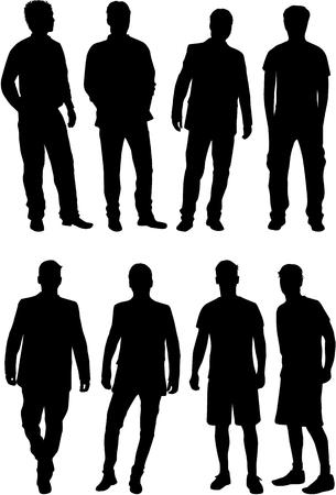 Illustration pour Silhouette of a man. - image libre de droit
