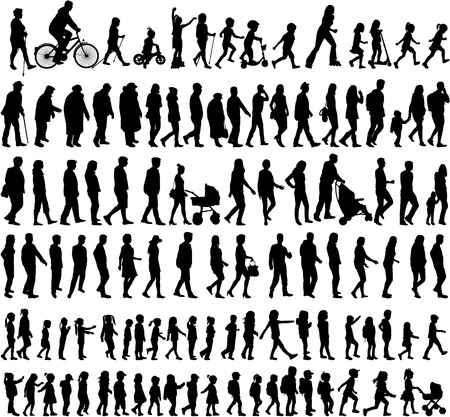 Ilustración de Large collection of silhouettes concept. - Imagen libre de derechos