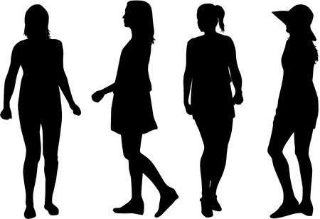 Illustration for Silhouette of a woman. - Royalty Free Image