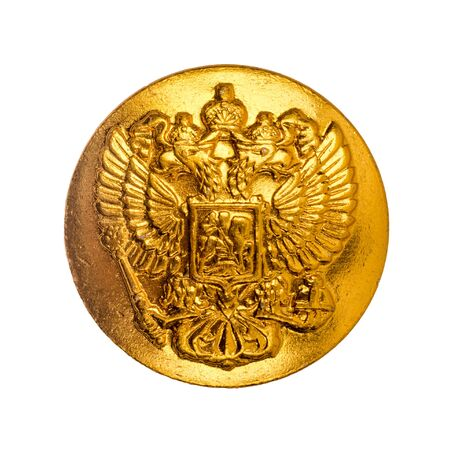 Double-headed eagle. Soat of arms of the Russian Federation. Isolated on white