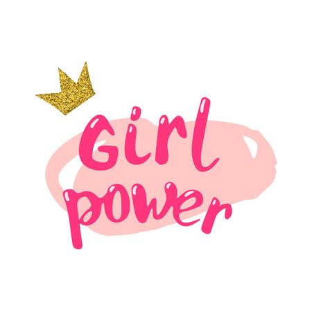 Illustration pour Girl power composition vector illustration. - image libre de droit