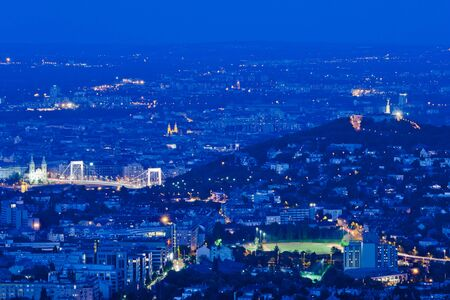 Budapest Gellert Hill with view