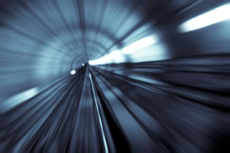 Foto de tunnel abstract with motion blur in monotone - Imagen libre de derechos