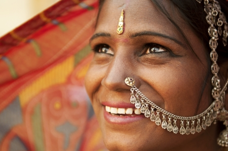 Portrait of an India Rajasthani woman