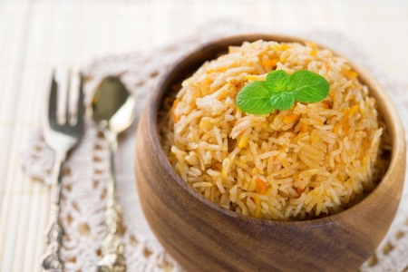 Indian food biryani rice or briyani rice, fresh cooked, indian dish.