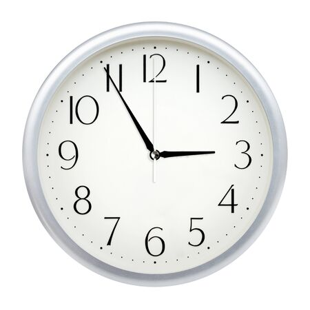 Photo for Analog wall clock isolated on white background. - Royalty Free Image