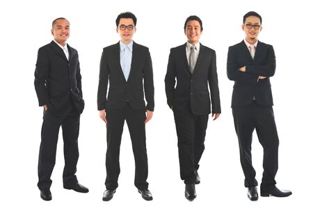Photo pour Full length Asian business man standing isolated on white background. - image libre de droit