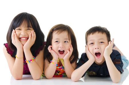 Portrait of cute asian kids