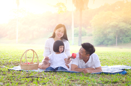 Photo for Asian family picnic - Royalty Free Image