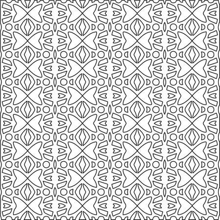 Illustration pour Geometric vector pattern with triangular elements. Seamless abstract ornament for wallpapers and backgrounds. Black and white colors. - image libre de droit