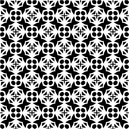Illustration for Geometric vector pattern with triangular elements. Seamless abstract ornament for wallpapers and backgrounds. Black and white colors. - Royalty Free Image