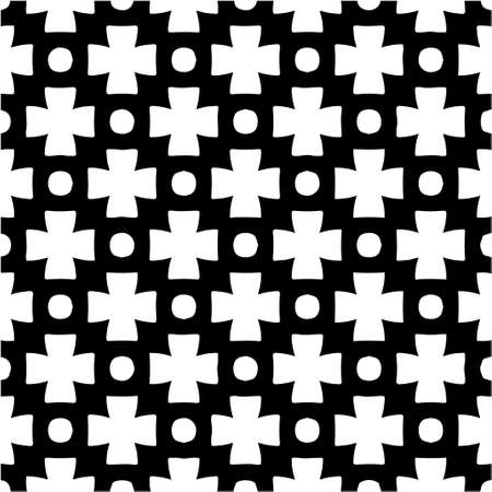 Photo pour Geometric vector pattern with triangular elements. Seamless abstract ornament for wallpapers and backgrounds. Black and white colors. - image libre de droit