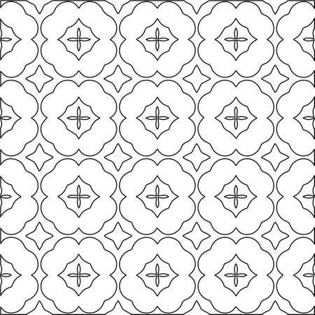 Illustration pour Geometric vector pattern with Black and white colors. abstract ornament for wallpapers and backgrounds. - image libre de droit