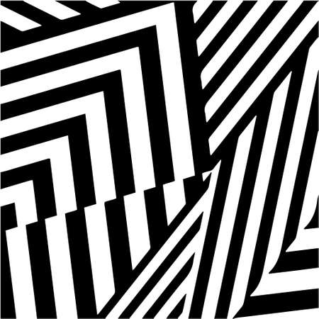 Illustration pour striped background. Geometric vector pattern with triangular elements. abstract ornament for wallpapers and backgrounds. Black and white colors. - image libre de droit