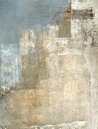 Photo pour Grey and Beige Abstract Art Painting - image libre de droit
