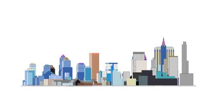 Photo for colorfull Big city skyline in Black backfround - Royalty Free Image