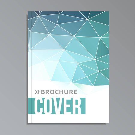 Modern geometrical cover template, polygonal design, vector illustration backgroundの素材 [FY31039178060]