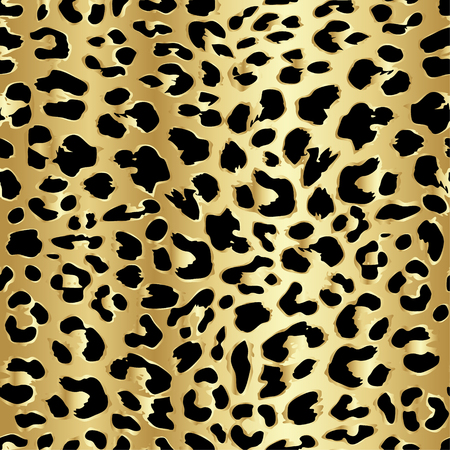 Foto de Leopard seamless pattern design in luxury gold color, vector illustration background - Imagen libre de derechos