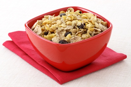 Foto für delicious and healthy wholegrain muesli breakfast, with lots of dry fruits, nuts and grains - Lizenzfreies Bild