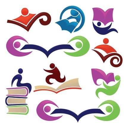 Illustration pour vector collection of reading and education symbols - image libre de droit
