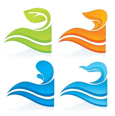 nature symbols decorative elements