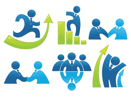 Illustration pour business and development collection of office symbols and signs - image libre de droit