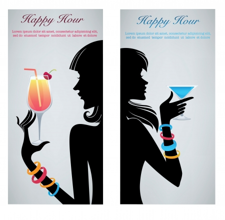 drink with me,commercial background with images of drinks and girls silhouettes