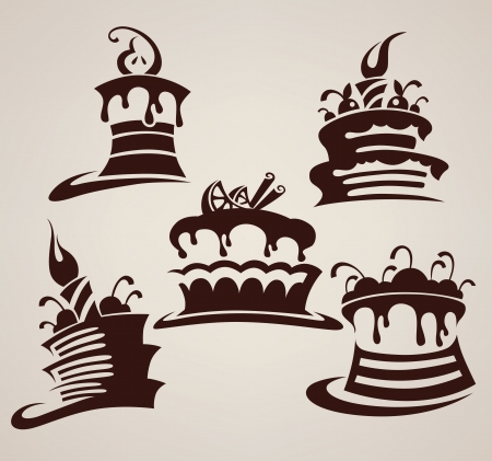 Collection of cakes images and arts